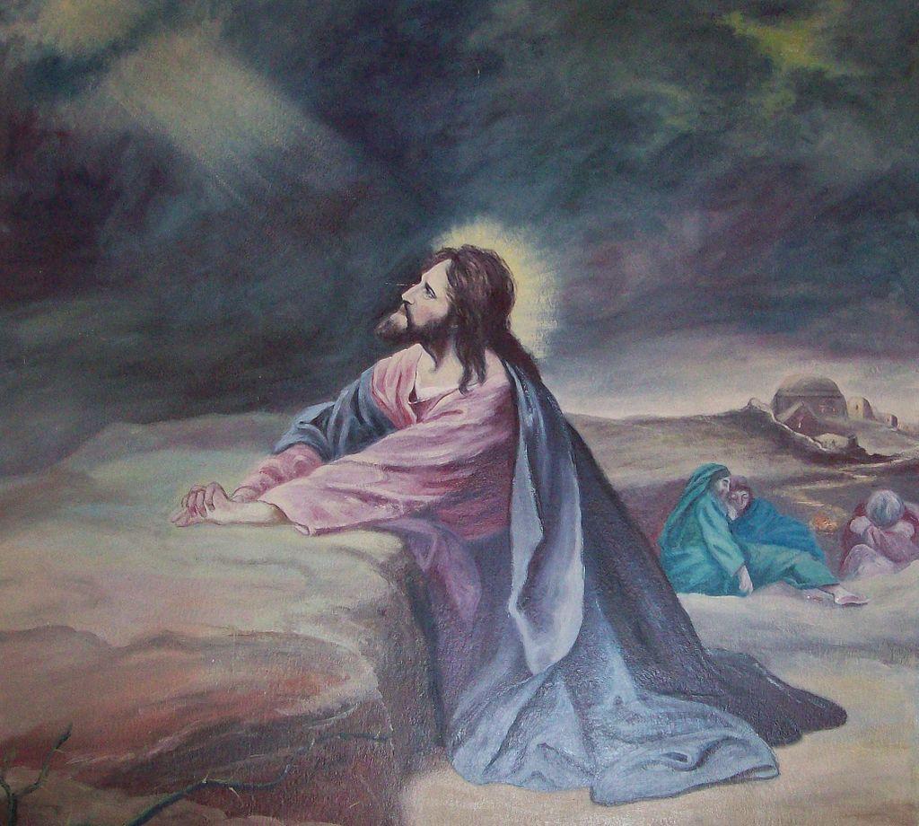 Dipinto che rappresenta Gesù che prega nel giardino del Getsemani