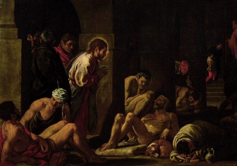 Gesù che guarisce l'infermo alla piscina di Betzaeta