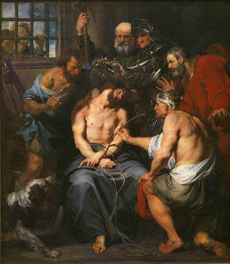 Dipinto che rappresenta l'incoronazione di spine di Gesù.