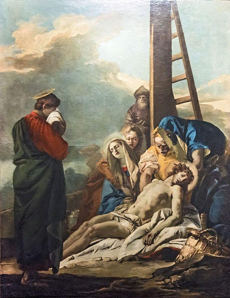 Immagine di Gesù che viene deposto dalla croce.