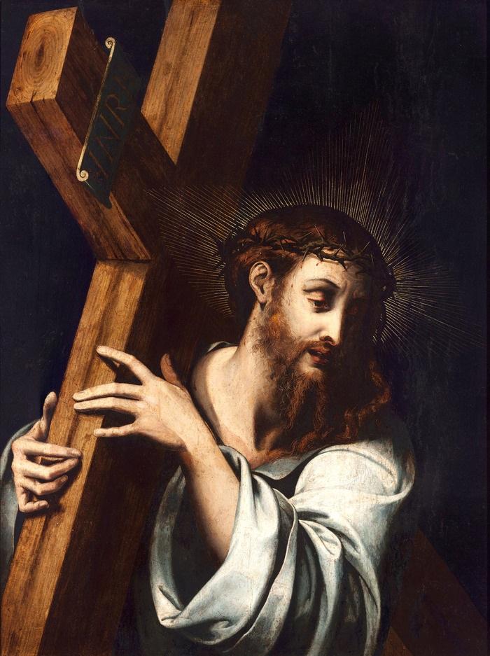 Dipinto che raffigura Gesù col carico della croce