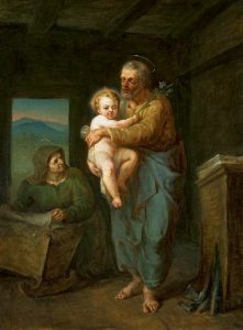 Dipinto di San Giuseppe con il bambino Gesù in braccio