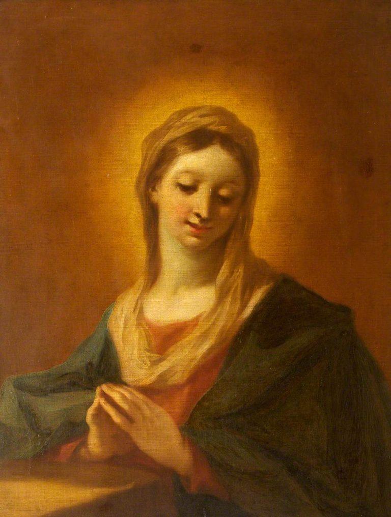 La Vergine in preghiera
