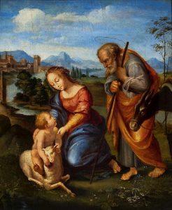 San Giuseppe, Maria e il bambinello