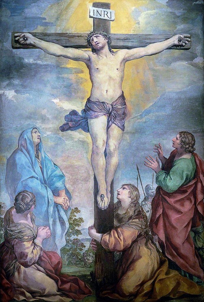 Dipinto che rappresenta la morte di Gesù in croce.