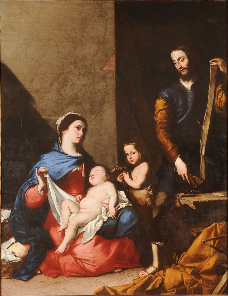 """Dipinto """"La Sacra Famiglia"""" di Jusebe de Ribera (Lo Spagnoletto)"""