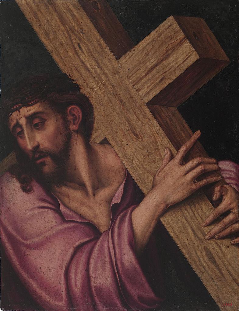 seconda stazione gesù riceve la croce dipinto di luis de morales