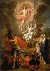 Raffigurazione della risurrezione di Gesù Cristo