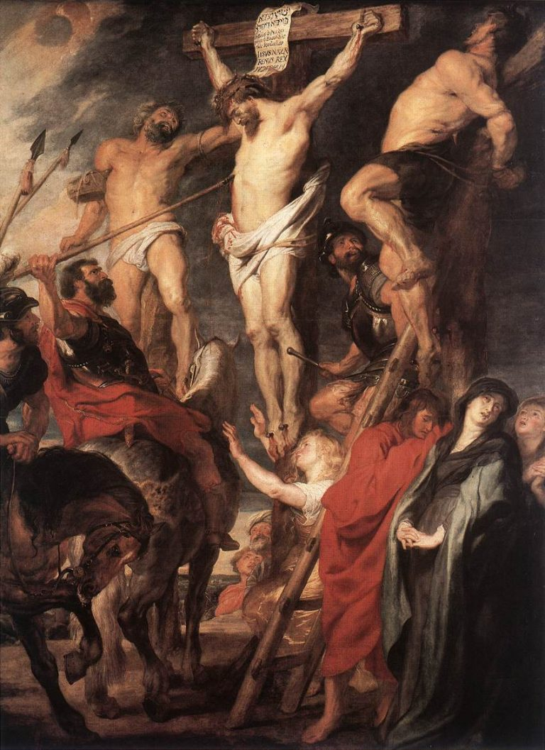 Gesù in croce fra i ladroni , Peter Paul Rubens
