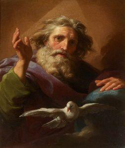 Dipinto di Dio Padre e lo Spirito Santo di Pompeo Batoni