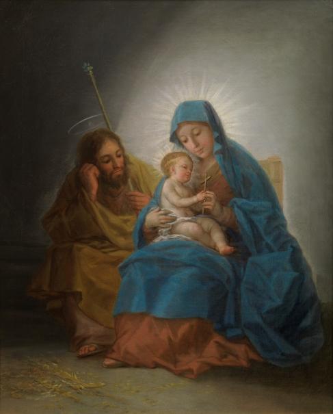"""""""La Sagrada Familia"""", dipinto di Goya"""