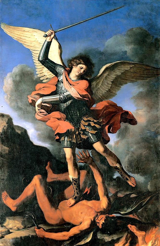 """""""San Michele Arcangelo"""" dipinto di Guercino"""