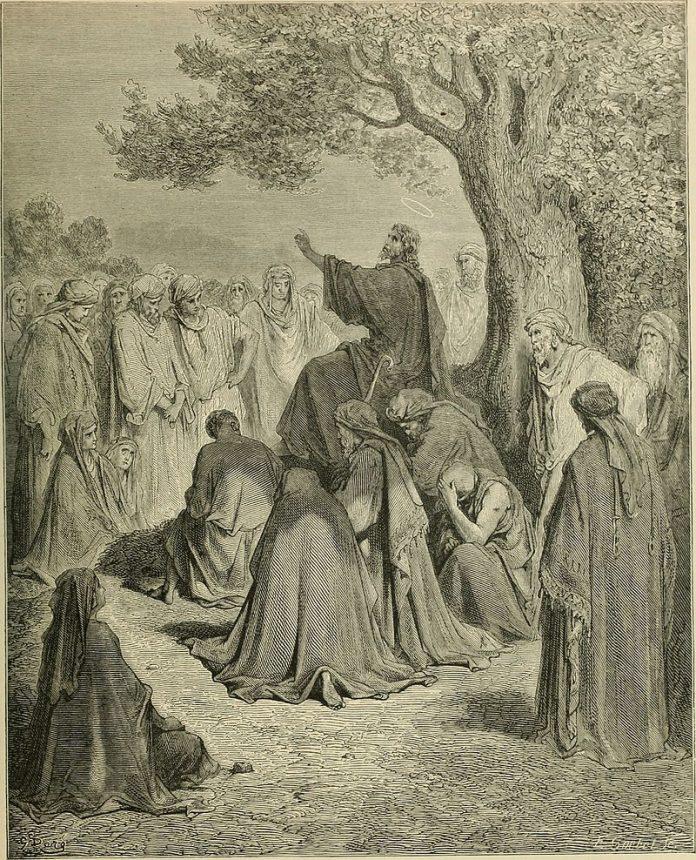 Gesù detta i suoi insegnamenti ai propri discepoli