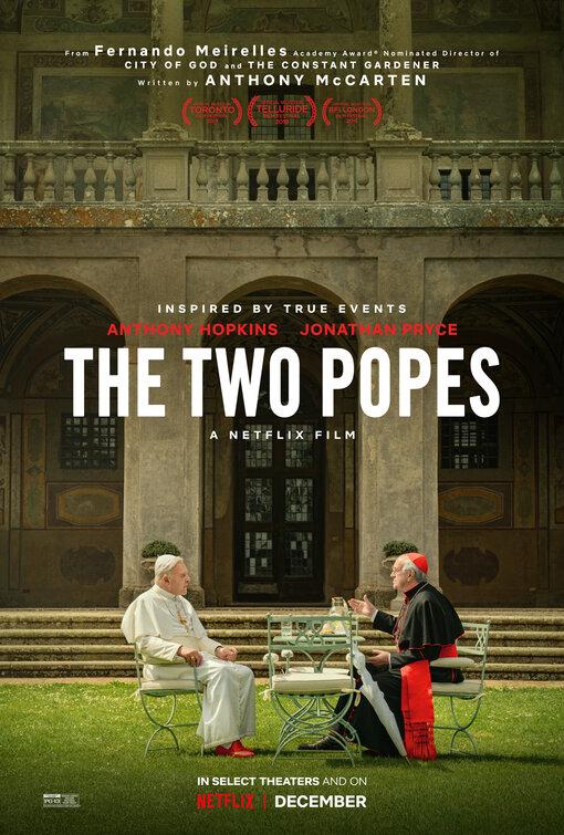 """Il primo poster di """"Two Popes"""""""